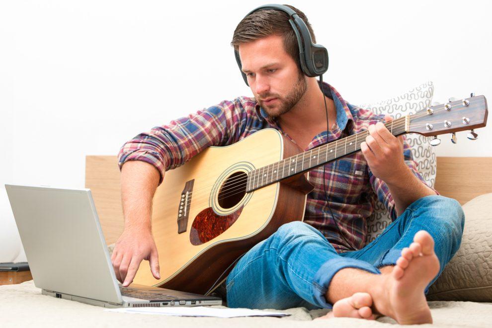Online-Gitarrenunterricht